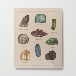 Gems and Minerals Metal Print