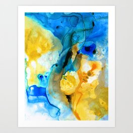 Iced Lemon Drop - Abstract Art By Sharon Cummings Art Print