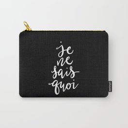 Je Ne Sais Quoi —Version 2 (Black Background) Carry-All Pouch