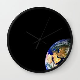 Earth Globe Space Wall Clock