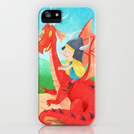The Girl and The Dragon iPhone Case