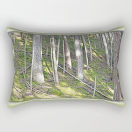 A MOSSY STEEP DEEP FOREST SLOPE Rectangular Pillow