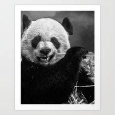 b&w Panda Art Print