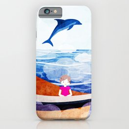 When dolphins are around 2 iPhone Case