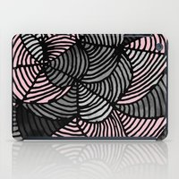 gray pattern iPad Cases featuring Abstract Pattern - Gray & Pink by Georgiana Paraschiv