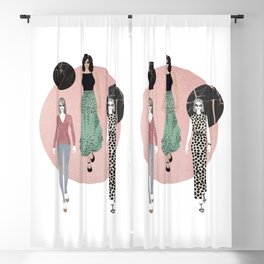 Polka Dots & Rose Gold Blackout Curtain