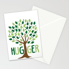 Tree Hugger design Planting Trees Eco Friendly Tee Stationery Cards