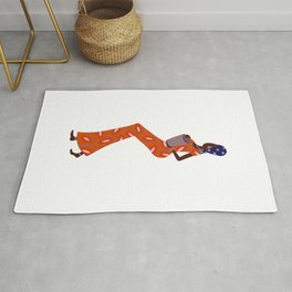 Lady in Chitenge (Orange) Rug