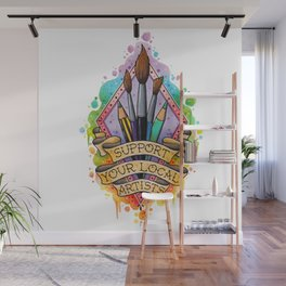 Support your local artist design Wall Mural