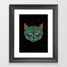 Intergalactic Cat Framed Art Print