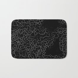 White on Black Crackle Bath Mat