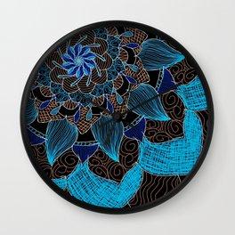 Offset Mandala Wall Clock