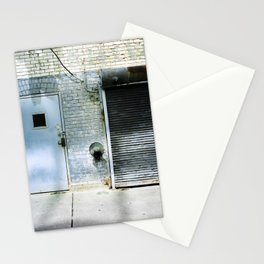 Blue Street Abstract 3 Stationery Cards