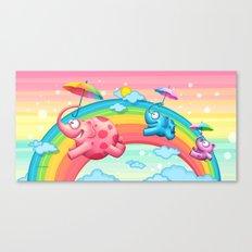 Rainbow elephants Canvas Print