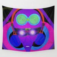 dj Wall Tapestries featuring DJ Glow by Vibrance MMN