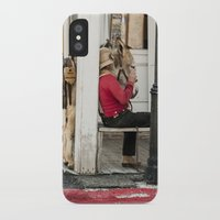 donkey iPhone & iPod Cases featuring Donkey by Joëlle Paquet