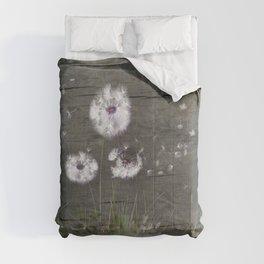 Rustic Barn Wood Series: Dandelion Seeds Fly Away Comforters