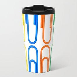 pattern of decorative colored clips Travel Mug