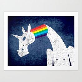 Rainbow Filled Unicorn Art Print