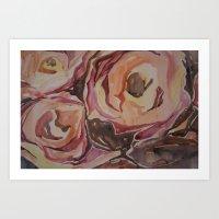 Abstract Blossoms Art Print