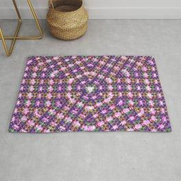 Kaleidoscope Finger Spinners Mandala Pattern Rug