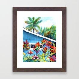 Hanalei Cottage Framed Art Print