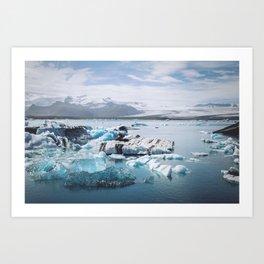 Icelandic glacier Art Print
