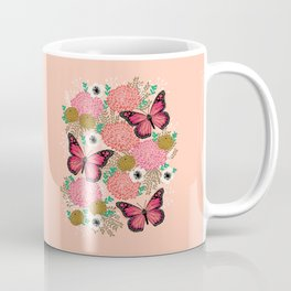 Monarch Florals by Andrea Lauren  Coffee Mug
