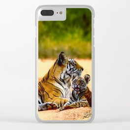 Tiger Family Clear iPhone Case
