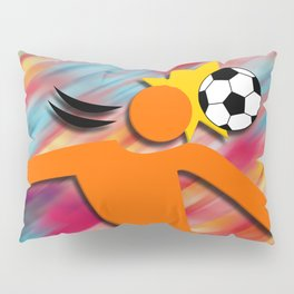 Soccer Head Pillow Sham