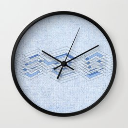 Manipulating blue Wall Clock