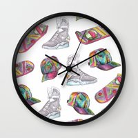 hologram Wall Clocks featuring watercolor back to the future 2 by Sarah Brust