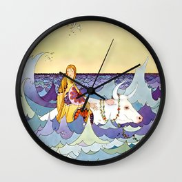 """Europa and the Bull"" by Virginia Sterrett Wall Clock"