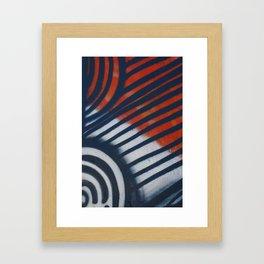 Red White & Blue Graffiti Framed Art Print