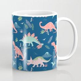 Jurassic Dinosaurs on Blue Coffee Mug