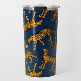 Tigers (Navy Blue and Marigold) Travel Mug