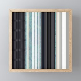 Black, White, & Sea Glass Accordian Framed Mini Art Print