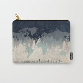world map wanderlust forest 2 Carry-All Pouch