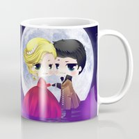 ouat Mugs featuring OUAT - Chibi Captain Swan Dance by Yorlenisama