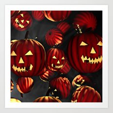 Scary Halloween Art Print