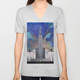 Los Angeles LDS Temple Unisex V-Neck
