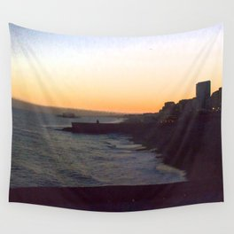 Seafront sunset Wall Tapestry