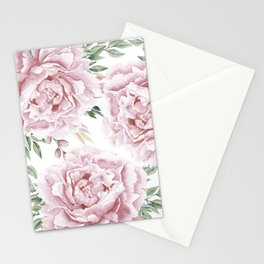 Beautiful Pink Roses Garden Stationery Cards
