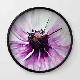 Sweet Anemone of Purple watercolor by CheyAnne Sexton Wall Clock