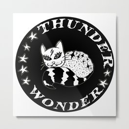 Wonder Thunder Cat Metal Print