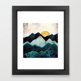 Glacial Hills Framed Art Print