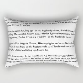 Annabel Lee Edgar Allan Poe Classic Poem Rectangular Pillow