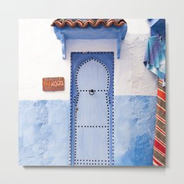 Doorways - Morocco - Chefchaouen The Blue City Metal Print
