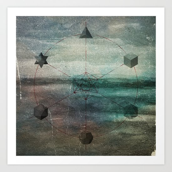 Platonic Solids Art Print