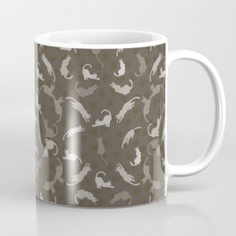 Brown and Grey Cute Cats Silhouettes Vector Coffee Mug